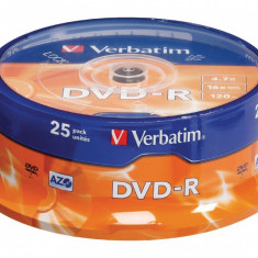 Set 25 DVD-R Verbatim 4.7Gb 16x