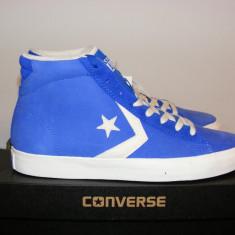 Ghete Converse Mens Pro Leather Trainers Dazzling nr. 44 si 44, 5 - Tenisi barbati Converse, Culoare: Albastru, Piele intoarsa