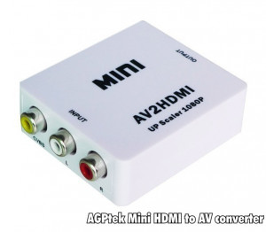 ADAPTOR convertor de la RCA ( AV ) la HDMI, video si audio !