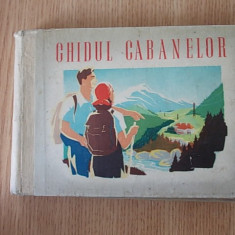 GHIDUL CABANELOR- 1949, cartonata - Ghid de calatorie