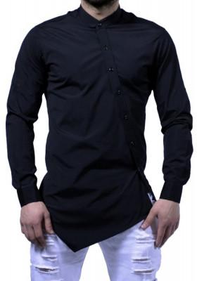 Camasa barbati Slim Fit Neagra Fashion  - Camasa neagra cambrata bumbac (S-XXL) foto