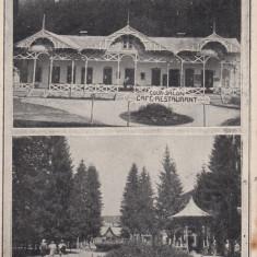 VALCELE, COVASNA, PARCUL SI COUR SALON CAFE - RESTAURANT, CIRCULATA 1927 - Carte Postala Transilvania dupa 1918, Printata