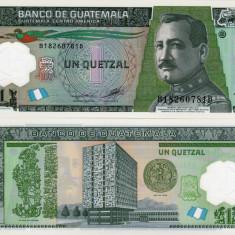 GUATEMALA 1 quetzal 17 octombrie 2012 polymer UNC!!! - bancnota america