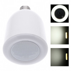 Spot LED RGB, 10W, E27, control telecomanda, portabil, alb