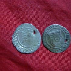 2 Monede medievale Ungaria 1519, argint, gaurite - Moneda Medievala, Europa