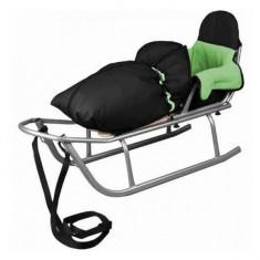 Sanie Rider cu Sac de dormit Speedy Verde Baby Dreams