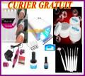 Kit manichiura set unghii false geluri UV lampa UV  accesorii pensule  nail-art