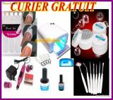 Kit manichiura set unghii false geluri UV lampa UV  accesorii pensule  nail-art, Sina
