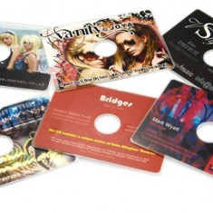 Set 100 business CD card printabile 62x86 mm