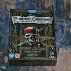 Film - Pirates of the Caribbean 1-4 Box Set [5 Blu-ray], Release UK Original - Film Colectie disney pictures, Engleza