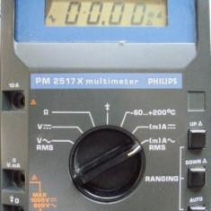 Multimetru true RMS, model Philips PM2517X, 4 digiti, afisaj LCD - Multimetre