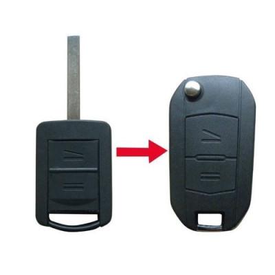Carcasa cheie Telecomanda Auto Conversie Briceag 2 Butoane Opel foto