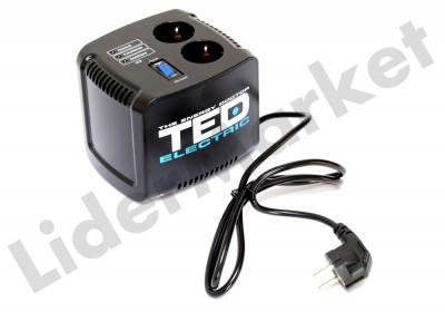 Stabilizator de tensiune TED Electric 500VA Servomotor foto