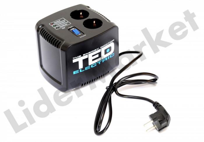Stabilizator de tensiune TED Electric 500VA Servomotor