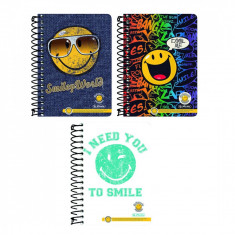 Bloc Notes Herlitz 10X14cm 200 file patratele Smileyworld - Caiet