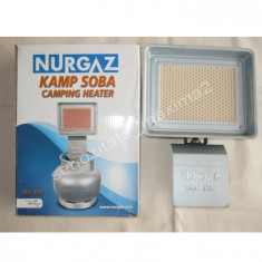 Arzator ceramic Nurgaz cu tot cu ceas de butelie soba incalazitor - Aragaz/Arzator camping