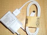 Incarcator Samsung 2A + cablu USB Samsung I9505 Galaxy S4,Samsung Galaxy S5, De priza