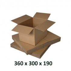 Cutie carton 360 x 300 x 190, natur, ondula C