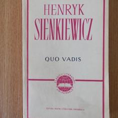 QUO VADIS, H. SIENKIEWICZ - Roman istoric