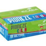 Pioneze colorate Ecada - set 100 bucati