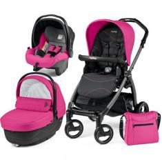 Carucior 3 in 1 Book Plus S Black Sportivo Bloom Pink - Carucior copii 2 in 1 Peg Perego