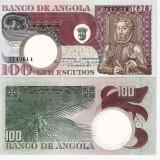 !!! ANGOLA - 100 ESCUDOS 1973 - P 106 - UNC - bancnota africa