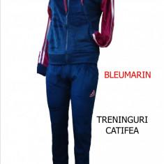 TRENINGURI ADIDAS CATIFEA, PANTALONI CONICI. LIVRARE GRATUITA - Trening dama Adidas, Marime: S, M, L, XL, Culoare: Bleumarin