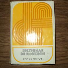 Dictionar de filozofie , Editura politica