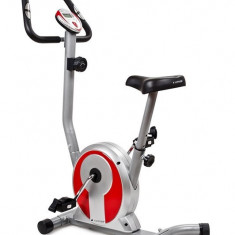 Bicicleta magnetica SMART - argintiu/rosu - Bicicleta fitness SPORTMANN