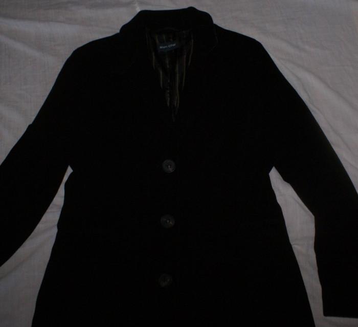 Palton dama MARC O'POLO negru marimea 38 / M din lana si casmir