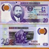 !!! MOZAMBIC - 20 METICAIS 2011 - P 149 - UNC // POLIMER - bancnota africa