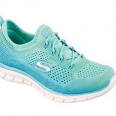 Pantofi Sport Dama SKECHERS GLIDER-FEARLESS, Marime 37 - Adidasi dama Skechers, Culoare: Bleu