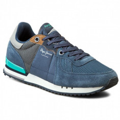 Adidasi PEPE JEANS LONDON Tinker nr. 45, InCutie, COD 139 - Adidasi barbati Pepe Jeans, Culoare: Albastru, Textil