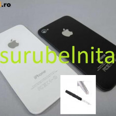 Capac baterie Apple spate iPhone 4 alb / Spate iphone 4 + surubelnita, iPhone 4/4S