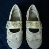 Pantofi Geox Respira fetite, piele naturala; marime 32 (20.2 cm); impecabili