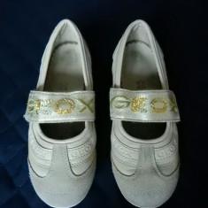 Pantofi Geox Respira fetite, piele naturala; marime 32 (20.2 cm); impecabili - Pantofi copii, Culoare: Din imagine