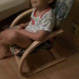 Scaun pentru copii din lemn de stejar cu spatar