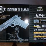 Pistol Airsoft Colt M1911 spring(arc) metal slide - Arma Airsoft