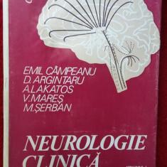 NEUROLOGIE CLINICA -VOL 1 -  CAMPEANU,MARES,SERBAN,LAKATOS .