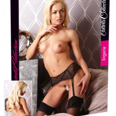 Portjartier Broderie Neagra - Lenjerie sexy femei