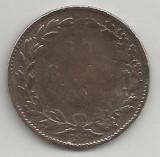 ROMANIA  10  BANI  1867   [5]  WATT   ,    livrare  in  cartonas, Cupru (arama)