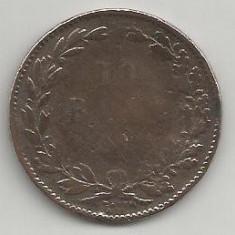 ROMANIA 10 BANI 1867 [5] WATT, livrare in cartonas - Moneda Romania, Cupru (arama)