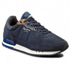 Adidasi PEPE JEANS LONDON Tinker nr. 44 si 45, InCutie, COD 138 - Adidasi barbati Pepe Jeans, Culoare: Albastru, Textil