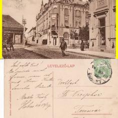 Lugos, Lugoj (Timis) - rara - Carte Postala Banat 1904-1918, Circulata, Printata