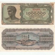 GRECIA 1.000.000 DRAHME / 1944. XF / aUNC - bancnota europa