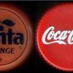 4 capace Coca Cola - Fanta vechi, anii '90