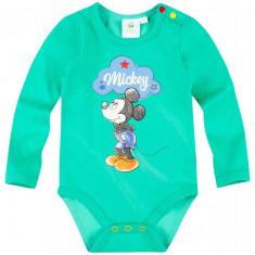 Body cu maneca lunga Disney Mickey verde
