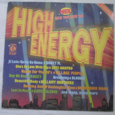 Various ‎– High Energy _ vinyl, LP, Germania - Muzica Pop Altele, VINIL