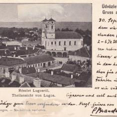 SALUTARI DIN LUGOJ, VEDERE GENERALA, CLASICA, CIRCULATA 1899 - Carte Postala Banat pana la 1904, Necirculata, Printata