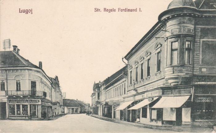 LUGOJ  STRADA  REGELE  FERDINAND  I  MARE  MAGAZIN DE STICLARIE SI PORTELAN